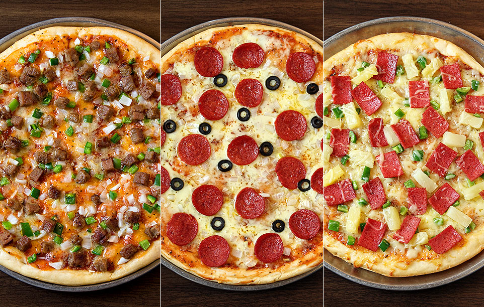 Pizza photography with different photo filters